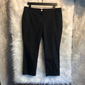 NWOT Tory Burch Black Cropped Pants Size 12